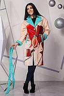Пальто эко кашемир с принтом 4102