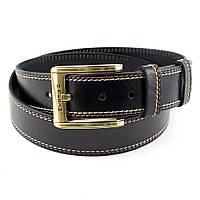 Мужской кожаный ремень RMU-017B (черный)
