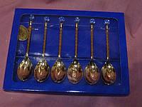 Ложечка десертная металлическая с кристаллом AR-1163 Юнион 13см длина