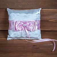 Свадебная подушечка для колец с кружевом (арт CR-203)