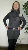 Платье туника с поясом. Оптом