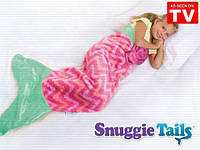 Одеяло - плед Snuggie Tails для детей, розовая русалка
