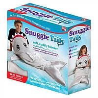 Одеяло - плед Snuggie Tails для детей, серая акула