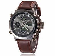 Армейские часы AMST 3003 Black-Black, кварцевые, противоударные, армейские часы АМСТ черный-черный, фото 1