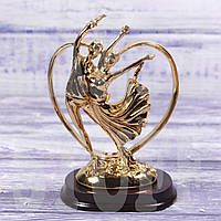 Статуэтка декоративная Пара влюбленных, золотая