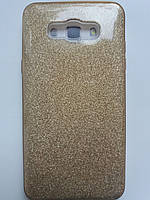 Силиконовая накладка Gliter для Samsung A320 (Gold)