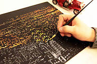 Скреч карты ночных городов (Нью-Йорка,Парижа,Египта,Турции)