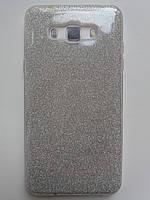 Силиконовая накладка Gliter для Samsung A320 (Silver)