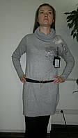 Платье туника женское с поясом. Оптом