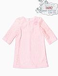 Гипюровое платье для девочки (ментол) ТМ МОНЕ р-р 122,134,140,146,152, фото 2