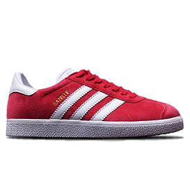 Женские кроссовки Adidas Gazelle Red White