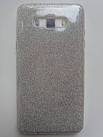 Силиконовая накладка Gliter для Samsung A520 (Silver)
