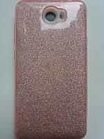 Силиконовая накладка Gliter для Samsung A520 (Pink), фото 1