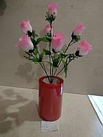 Роза искусственная 7 бутонов высота 43см
