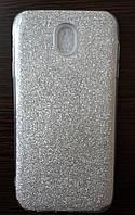 Силиконовая накладка Gliter для Samsung J530 (Silver), фото 1