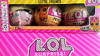 """Набор из 3 штук""""Кукла сюрприз """"LOL PETS"""" в шарике (3 Серия) с кинетическим песком"""""""