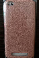 Силиконовая накладка Gliter для Xiaomi Redmi 4A (Pink)