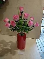 Роза искусственная 12 бутонов высота 43см