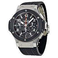 Мужские наручные часы Hublot Big Bang Automatic Black-Metallic-Black механические часы