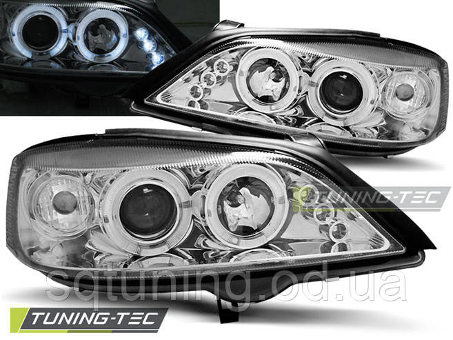 Фары OPEL ASTRA G 02.98-02.04 ANGEL EYES CHROME