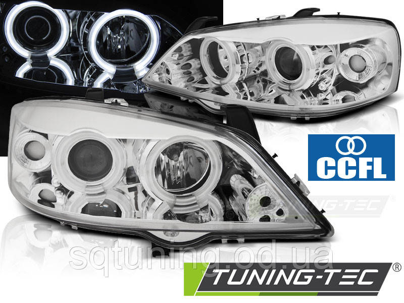 Фары OPEL ASTRA G 09.97-02.04 ANGEL EYES CCFL CHROME
