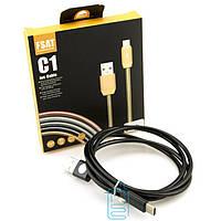 Кабель USB Type-C С1 Fast 2.4A металл черный