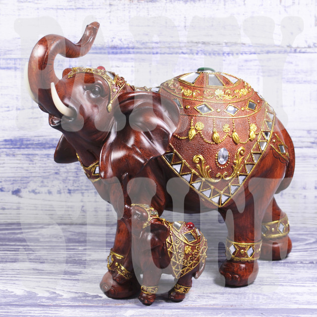 статуэтка слон со слоненком