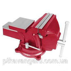 Тиски слесарные поворотные 100 мм INTERTOOL HT-0051