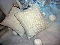Подушка декоративная диванная вязаная ручной работы