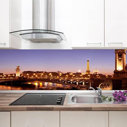 """Фартук на кухню / Скинали """"Вечерний Париж, панорама"""", фото 2"""