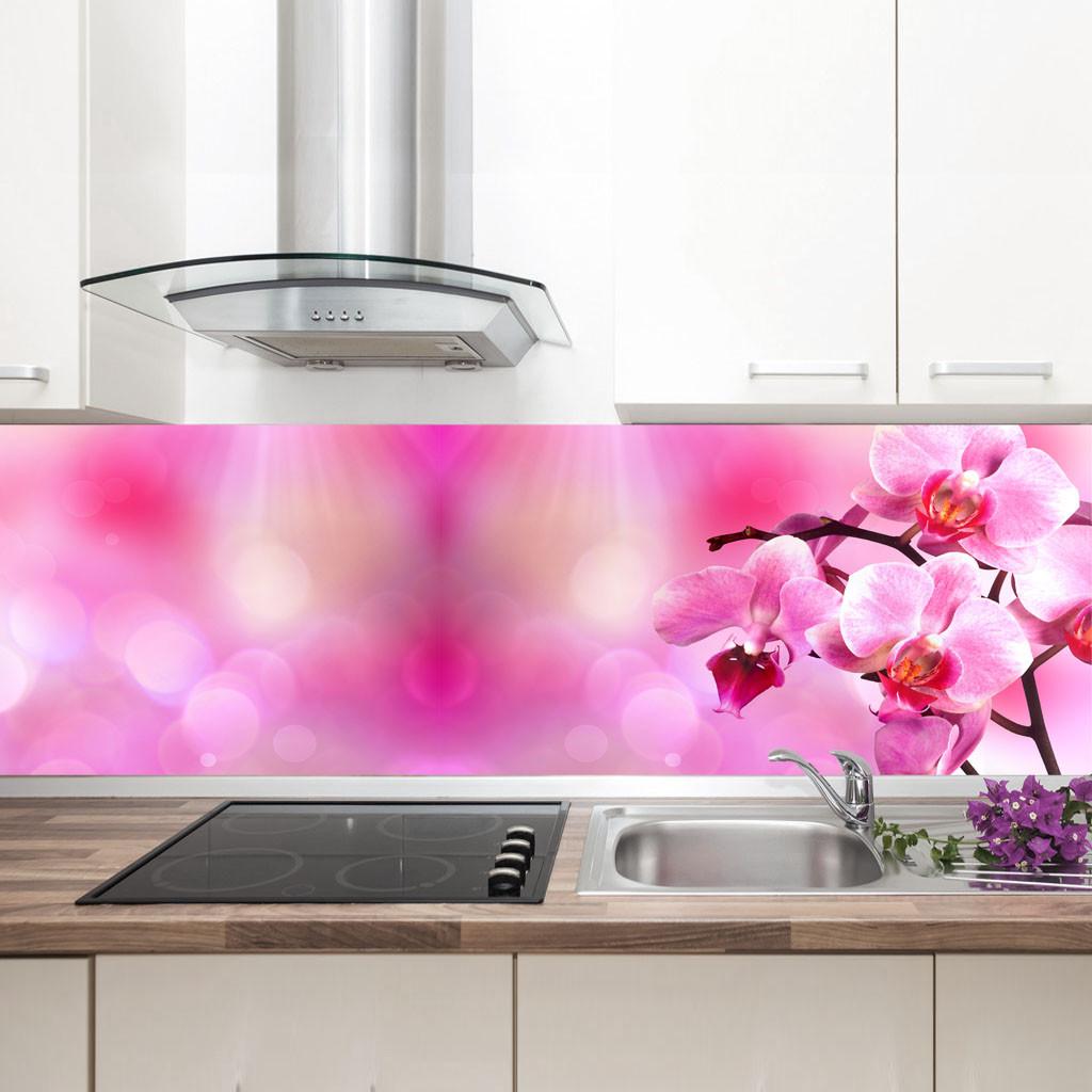 """Фартук на кухню / Скинали """"Розовая орхидея"""""""
