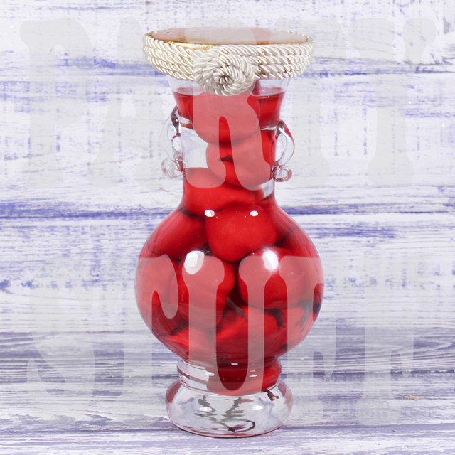 декоративная бутылка яблоки