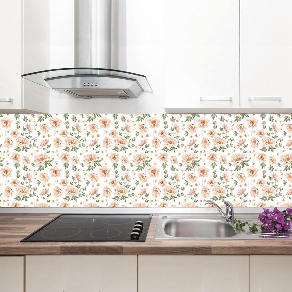 """Фартук на кухню / Скинали """"Цветы"""""""