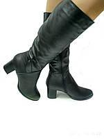 Женские кожаные сапоги Like 64