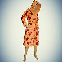Халат женский велюровый - la Bella -  длинный с капюшоном - Турция - Разные модели и цвета