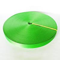 Тесьма полиэстеровая 28 мм х 50 метров 800 кг - лента для стяжных ремней зеленая