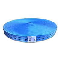 Тесьма полиэстеровая 28 мм х 50 метров 800 кг - лента для стяжных ремней синяя