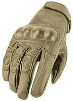 Кожаные тактические перчатки coyote, фото 1