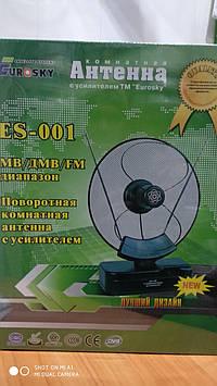 Антена Т2 Eurosky ES-001 кімнатна з підсилювачем