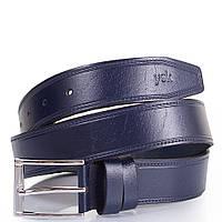 Ремень мужской кожаный y.s.k. shi2028-9 темно-синий