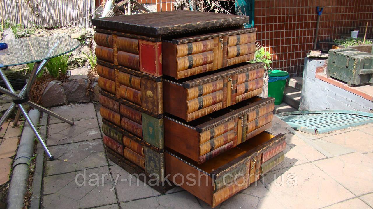 Комод из книг  - вертикальный