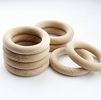 Деревянные кольца для слингобус и грызунков, дуб, 60 мм, толщина 10 мм, поштучно