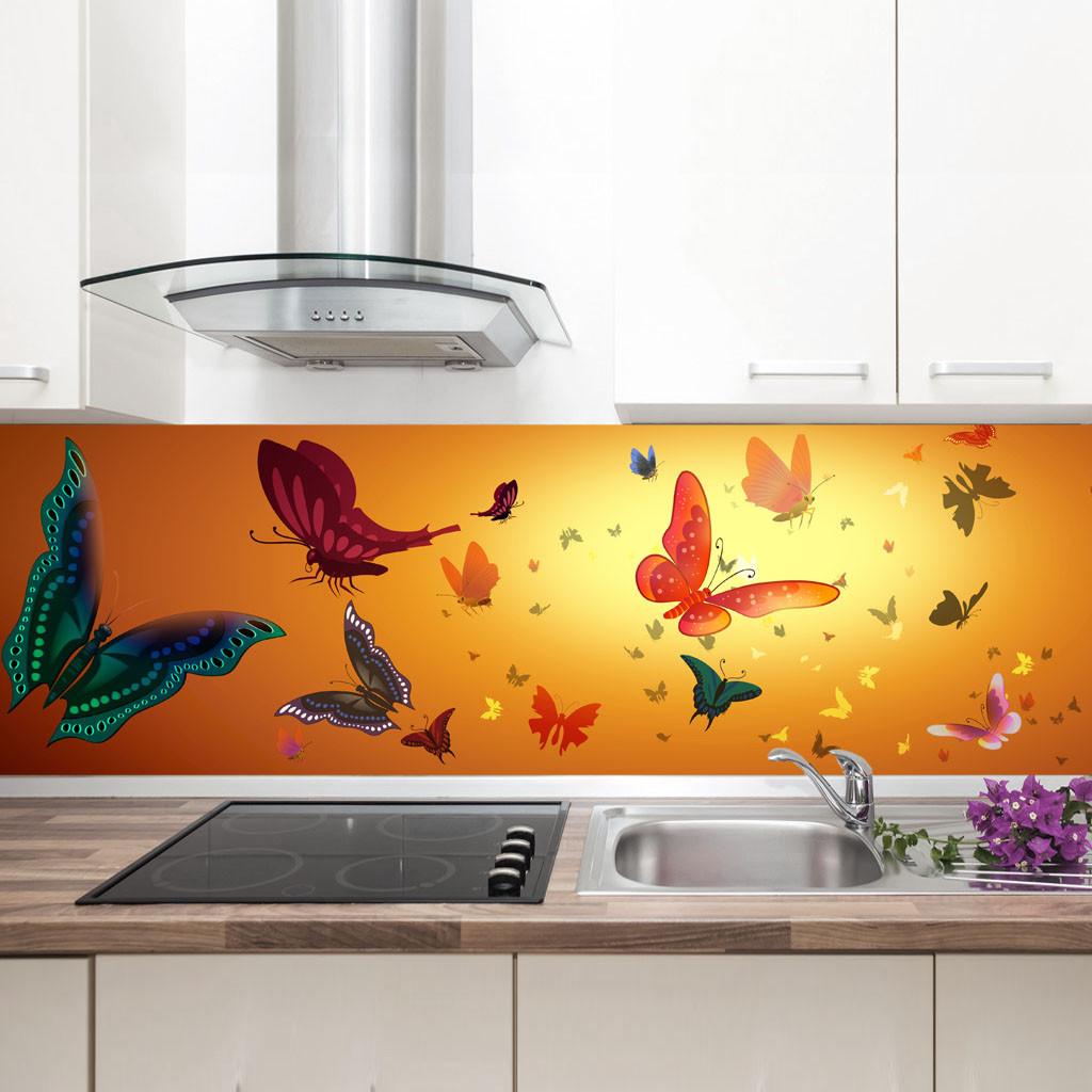 "Фартук на кухню / Скинали ""Бабочки"""