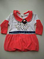 Детское велюровое платье 6 -18 мес, фото 1