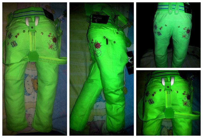 Летние яркие брюки для девочки на подтяжках!
