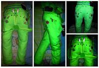 Летние яркие брюки для девочки на подтяжках!, фото 1