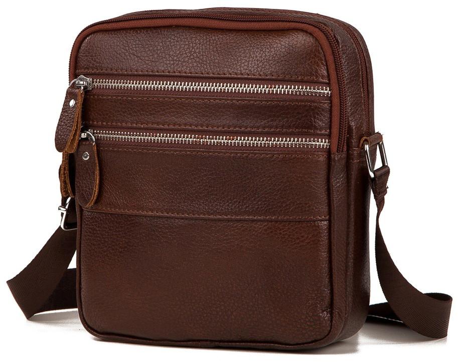 74a24ac84dae Мужской мессенджер TIDING BAG M38-3923C коричневый — только ...