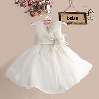 """Вечернее платье для девочек """"Селена"""". В белом цвете."""
