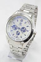 Мужские наручные часы (серебристый циферблат, серебристый ремешок)