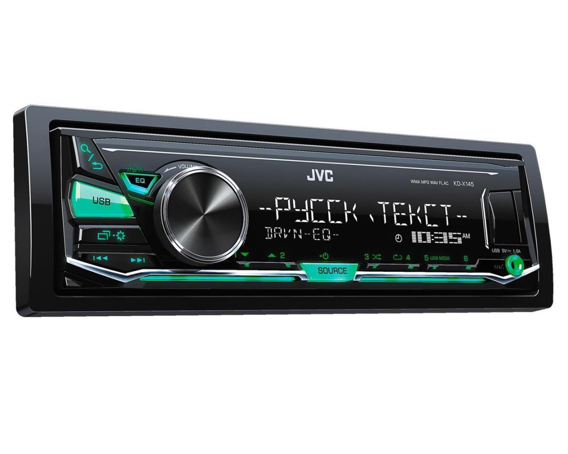 Автомагнитола JVC KD-X145, 1 Din